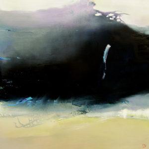 Norbert Pagé La vague noire 100 x 100 cm 2007