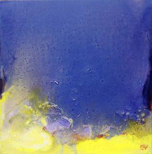 Norbert Pagé Chercheur d'or 40 x 40 cm  2004