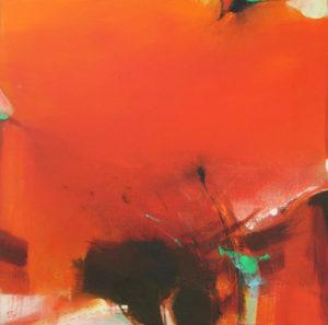 Norbert Pagé Harmonie en rouge 100 x 100 cm 2005