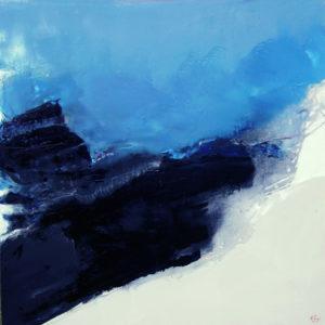 Norbert Pagé Roche noire 120 x 120 cm 2008