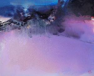 Norbert Pagé L'île brûlée 50 x 61 cm  2009