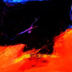 Norbert Pagé Rouge et noir 100 x 100 cm 2009