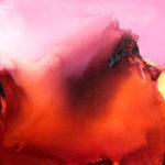 Norbert Pagé Rouge et rose 100 x 100 cm 2009