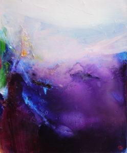 Norbert Pagé Paysage violet 73 x 60 cm 2009