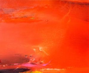 Norbert Pagé Paysage rouge 60 x 73 cm 2009