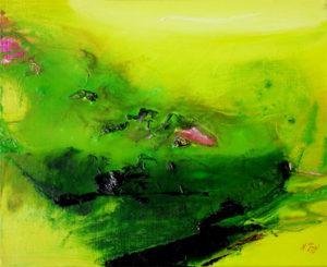 Norbert Pagé Verte tache rose 33 x 41 cm 2009