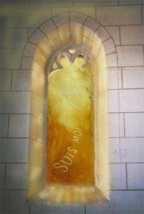 Norbert Pagé Eglise Marcé-sur-Esves Jésus dans le désert Norbert Pagé
