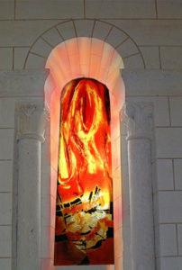 Norbert Pagé Église Marcé-sur-Esves Martin évangélise les campagnes en brûlant les temples des faux dieux  Norbert Pagé