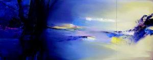 Norbert Pagé A notre sœur la terre (triptyque) 81 x 320 cm 2008