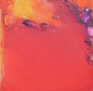 Norbert Pagé Coulée de lave 40 x 40 cm 2006
