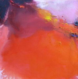Norbert Pagé Éruption 60 x 60 cm 2006