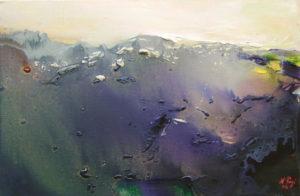 Norbert Pagé Paysage brûlé 27 x 41 cm  2006