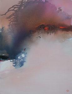 Norbert Pagé Éruption 65 x 50 cm 2006