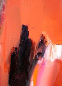 Norbert Pagé Ciel rouge 130 x 97 cm  2008