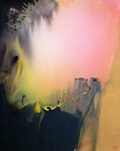 Norbert Pagé Lumière rose 100 x 81 cm 2008