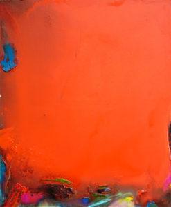 Norbert Pagé Rouge tache bleue 73 x 60 cm 2009