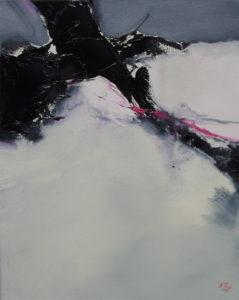 Norbert Pagé L'arbre et la neige 41 x 33 cm 2009