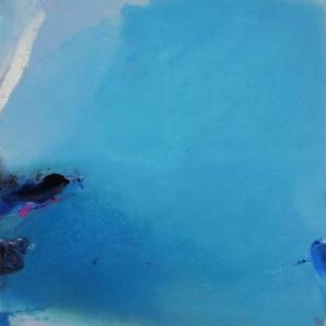 Norbert Pagé Grand bleu 100 x 100 cm 2008