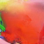 Norbert Pagé Rouge tache verte 100 x 100 cm 2008