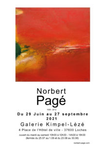 Exposition Norbert Pagé - Galerie Kimpel-Lézé - Loches